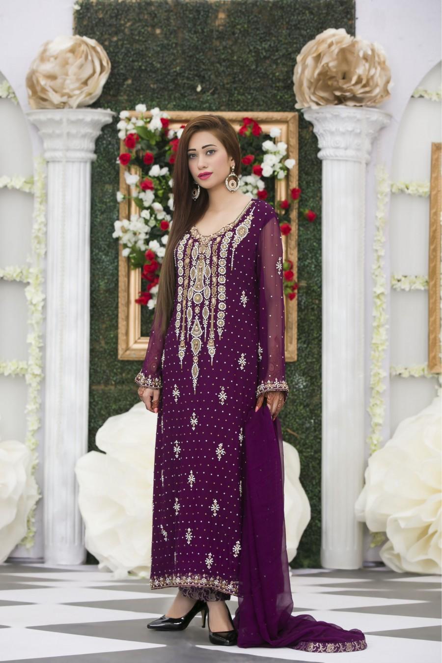 Wedding Dresses Color Purple : Purple color bridal dress home dresses exclusive