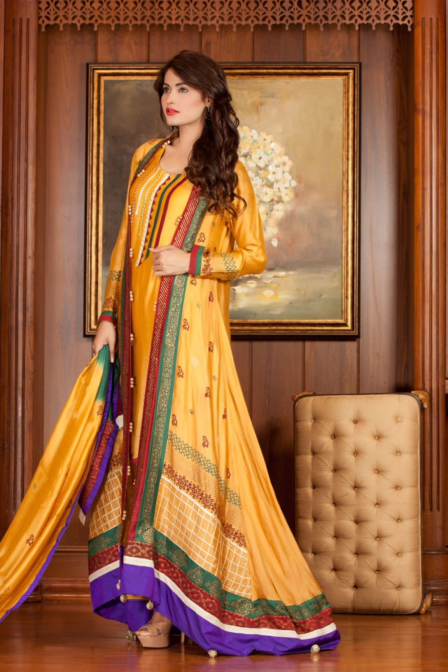 Yellow Color Mehndi Dress Exclusiveinn Com Page 1