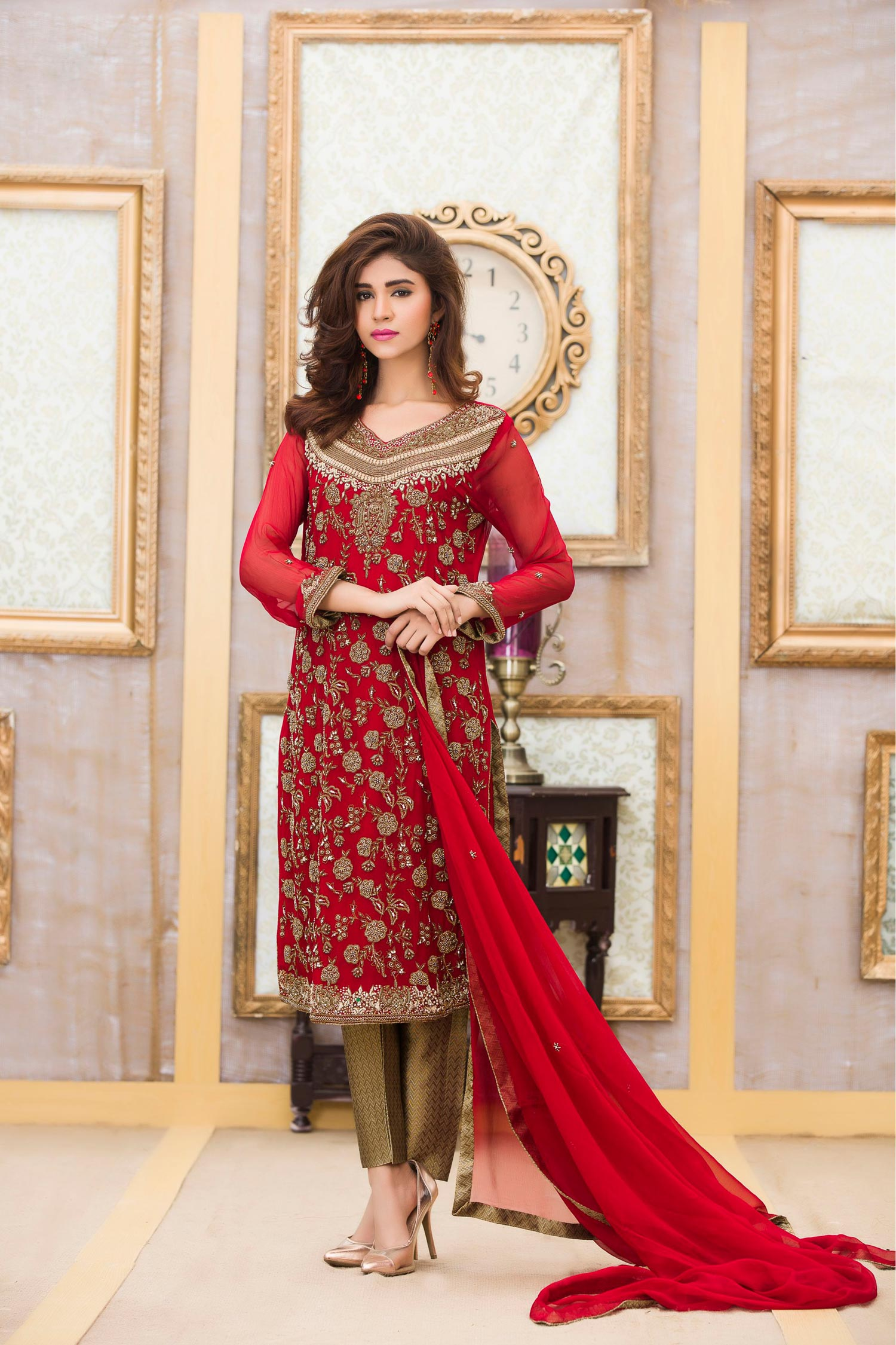 Exclusive Boutique Stylish RED COLOR BRIDAL DRESS
