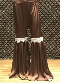 BROWN PEPLUM PANTS