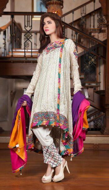 Beautiful HAND WORK & BLOCK PRINTING Party Dress