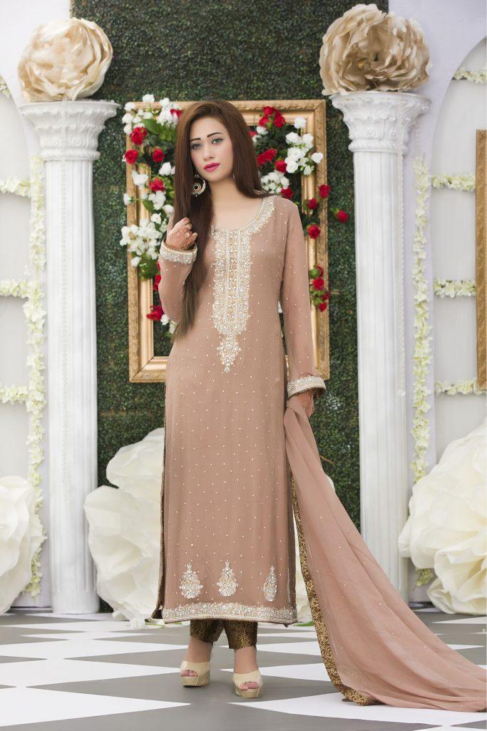 Exclusive Coffee Color Bridal Dress Exclusive Online