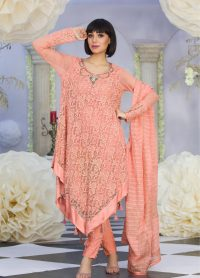 Exclusive Peach Color Latest Design Casual Dress