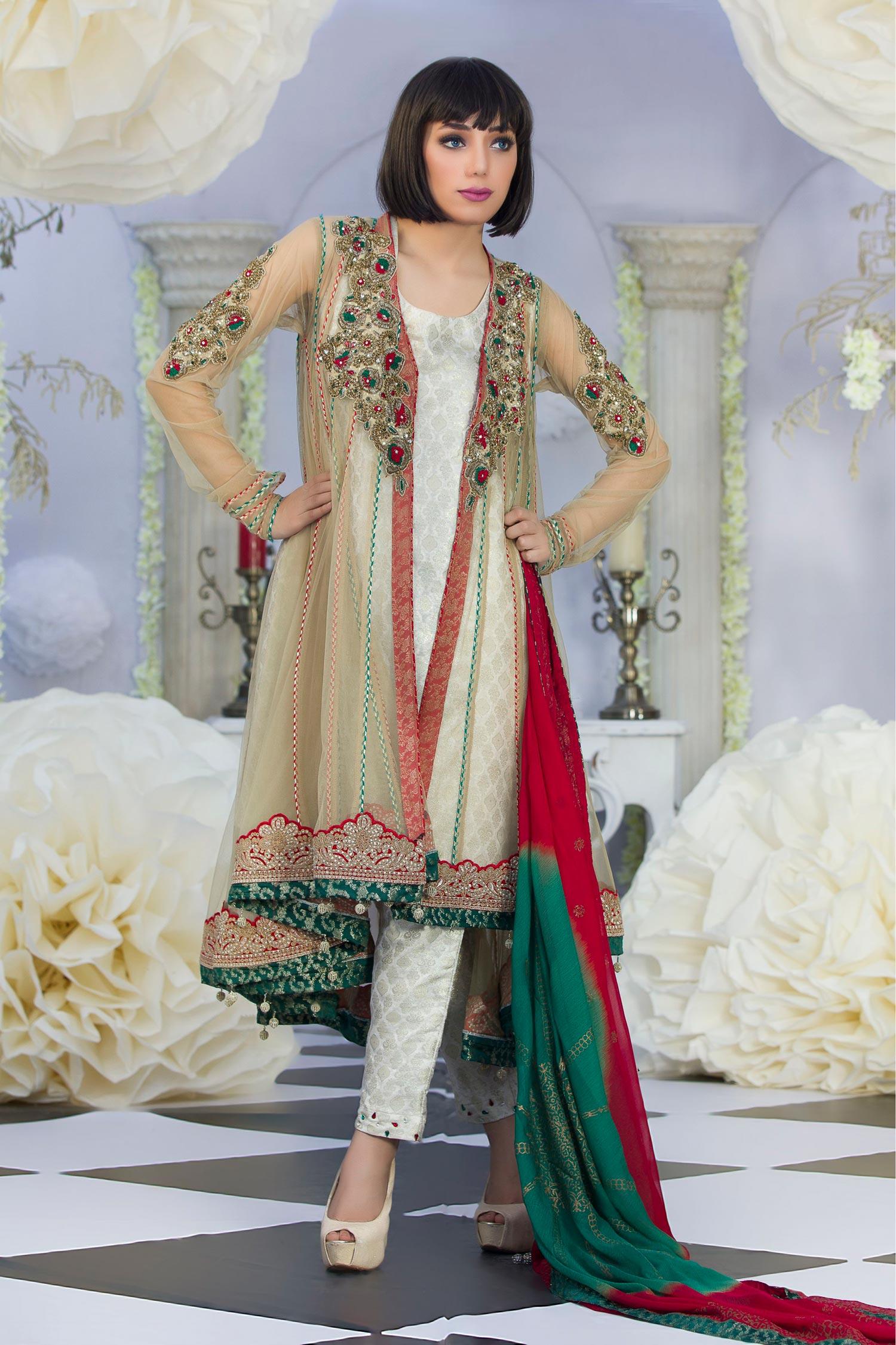 441da3dcc05 Exclusive Fawn Color Latest Design Party Dress - Exclusive Online ...
