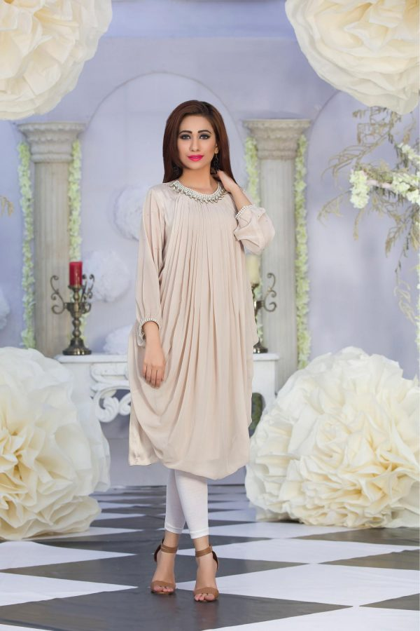 Exclusive Beige Color Latest Design Casual Kurti