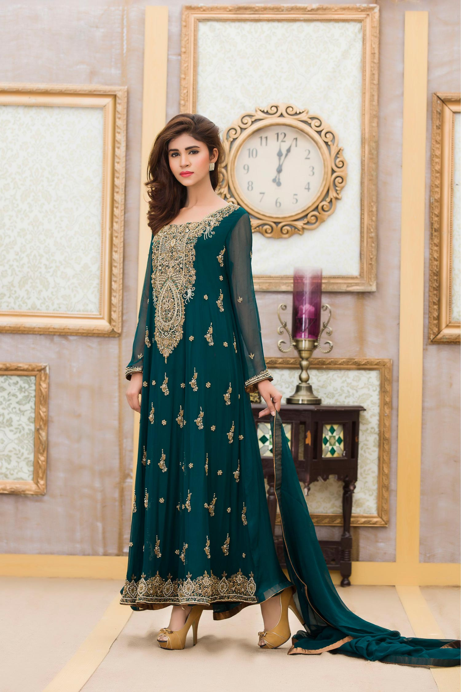 BOTTLE GREEN Bridal Dress BY Exclusive Boutique - Exclusive Online ...