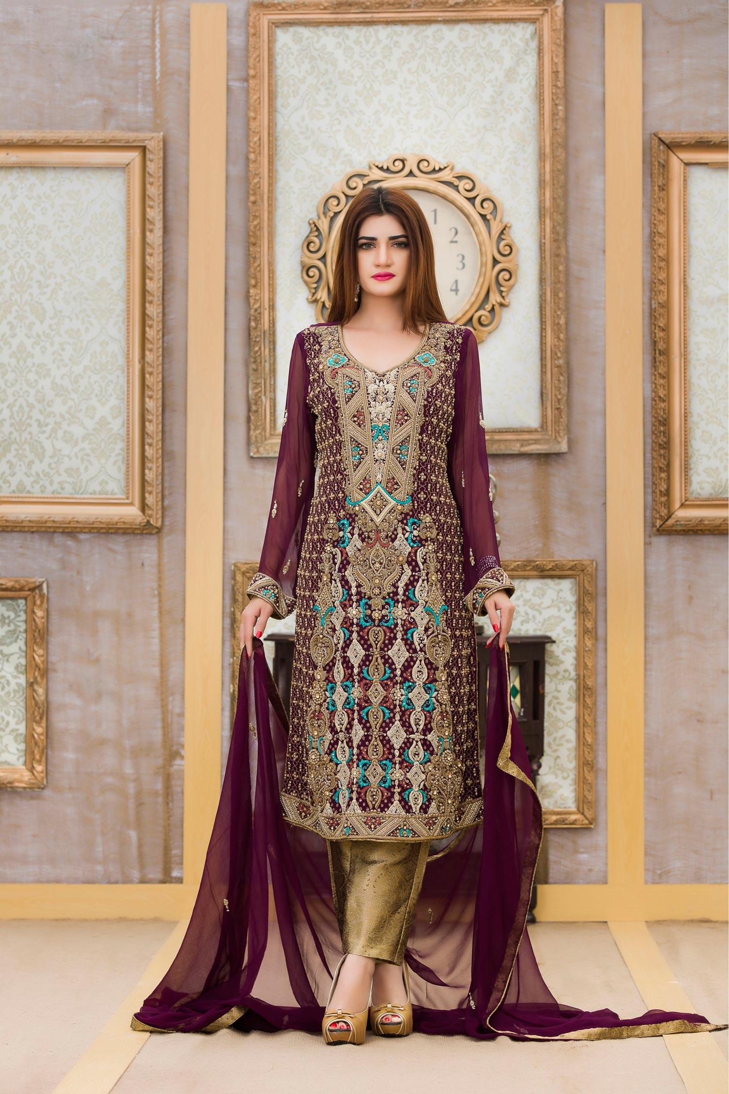 baa676df58eb Exclusive Boutique Stylish Purple Bridal Dress - Exclusive Online ...