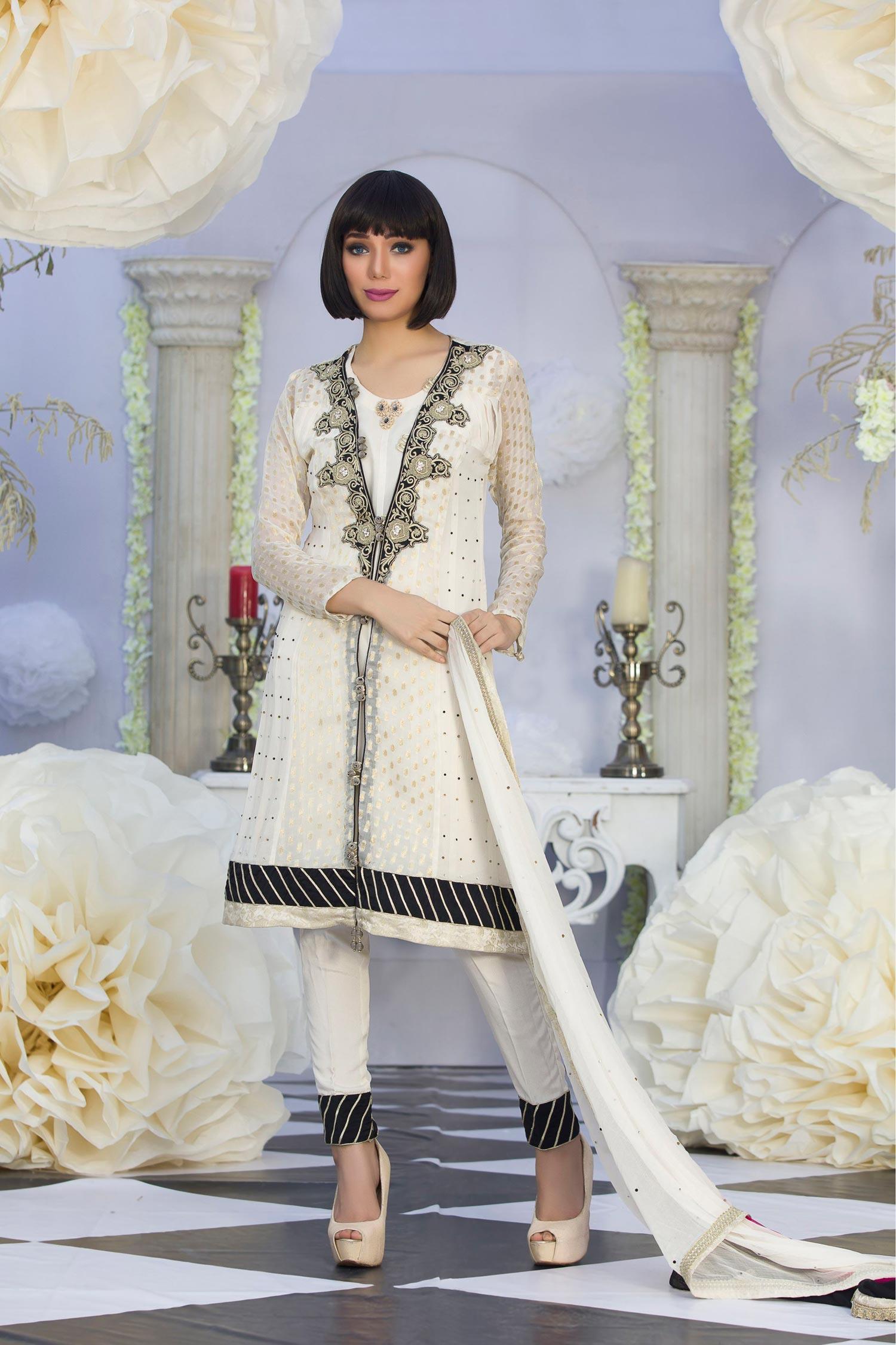 cc67891ddfb EXCLUSIVE LATEST OFF-WHITE COLOR PARTY DRESS - Exclusive Online Boutique
