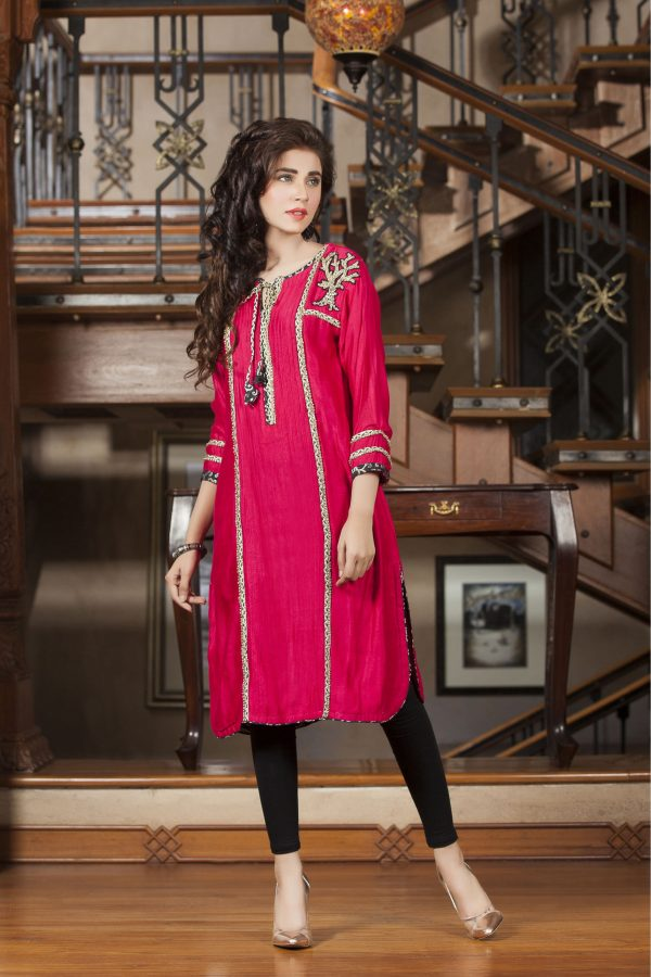 Pink winter collection kurti