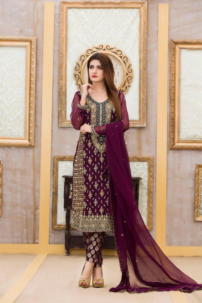 Buy Exclusive Boutique Bridal Bottle Green Dress - G11090 Online In USA, Uk & Pakistan