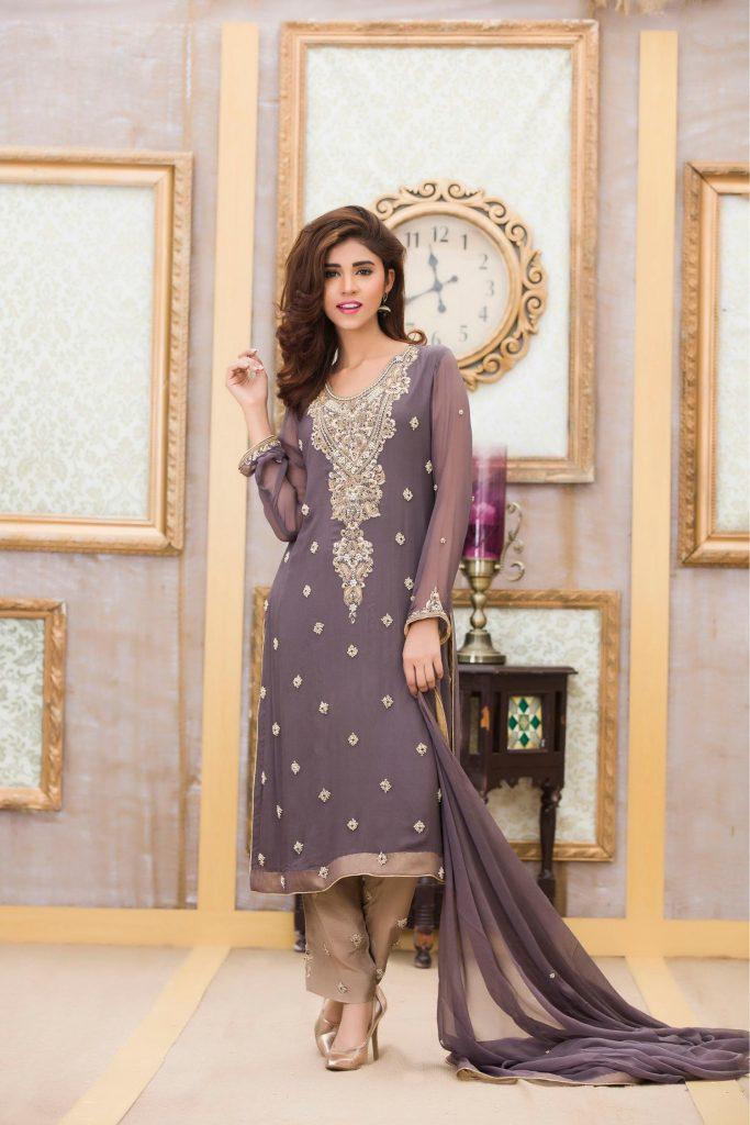 Buy Exclusive Boutique Deep Grey Bridal Dress -G11117 Online In USA, Uk & Pakistan