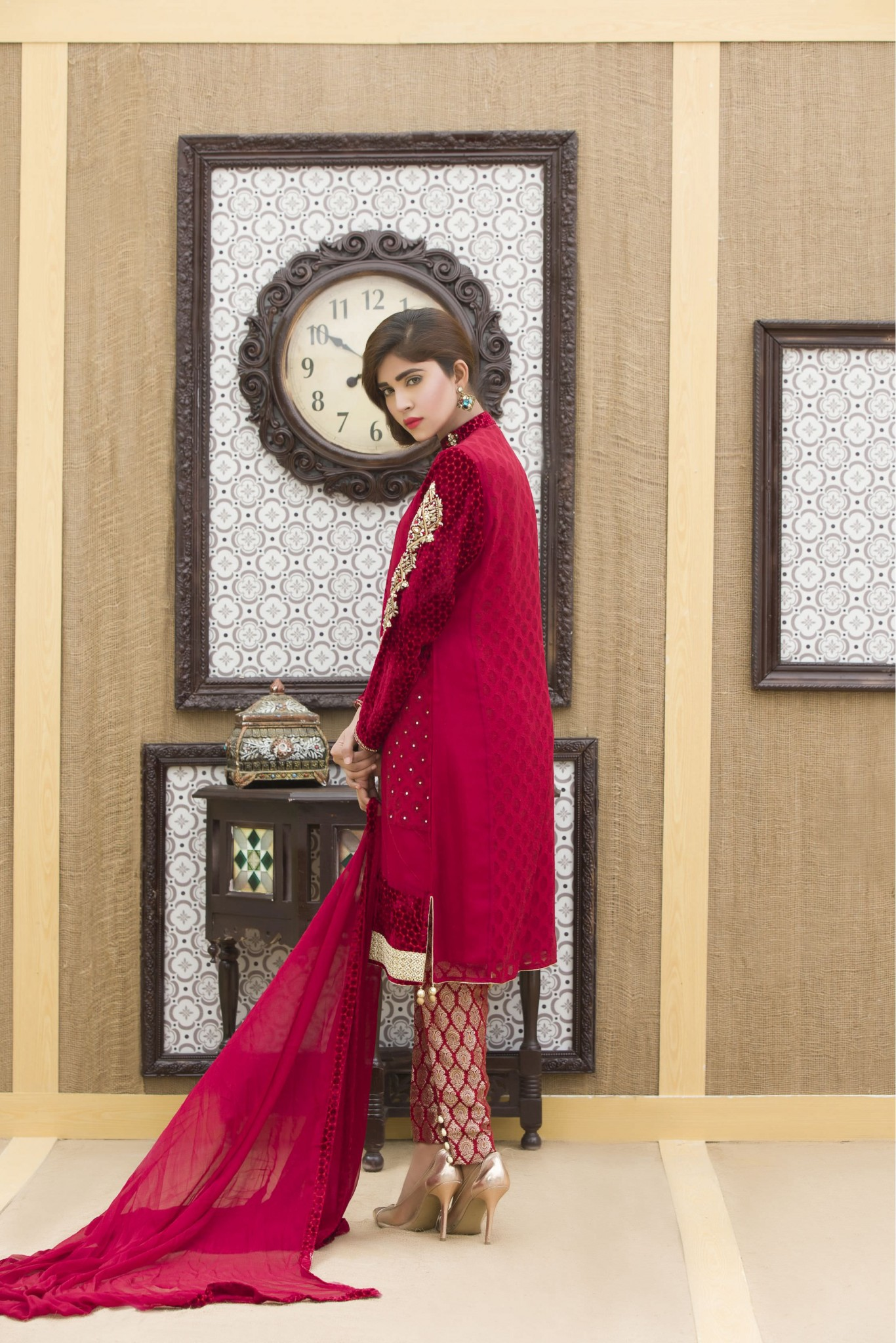 fb69410f15d MAROON PARTY WEAR DRESS - SAS501 - Exclusive Online Boutique