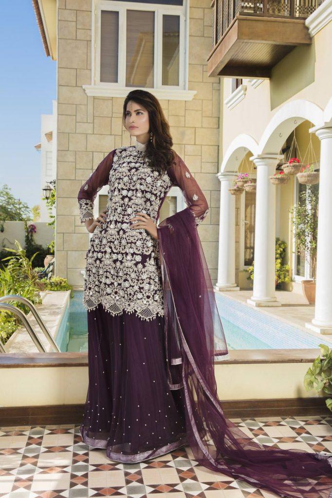 Buy Purple Color Bridal Dress – G11728 Online In USA, Uk & Pakistan - 01