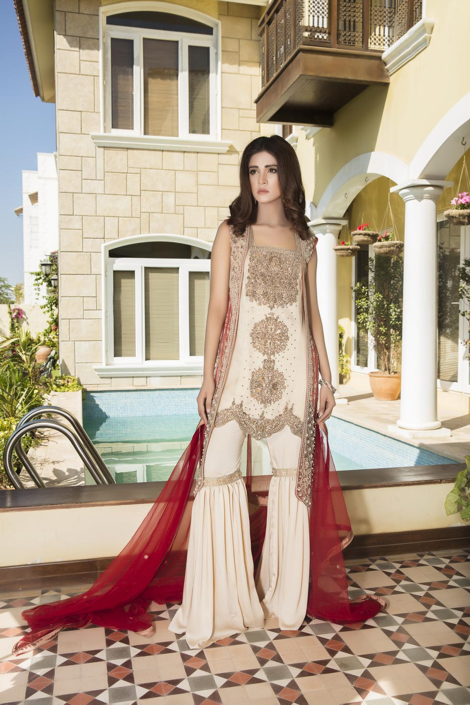 2f310387d72 RED AND SKIN COLOR BRIDAL WEAR - G11804 - Exclusive Online Boutique