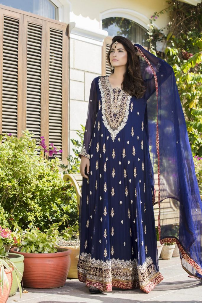 Buy Navy Blue Color Bridal Wear – G12177 Online In USA, Uk & Pakistan - 05