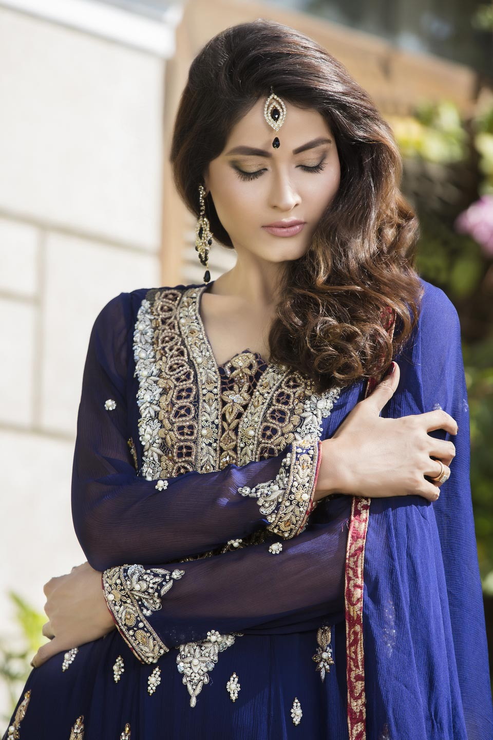 Buy Navy Blue Color Bridal Wear – G12177 Online In USA, Uk & Pakistan - 03
