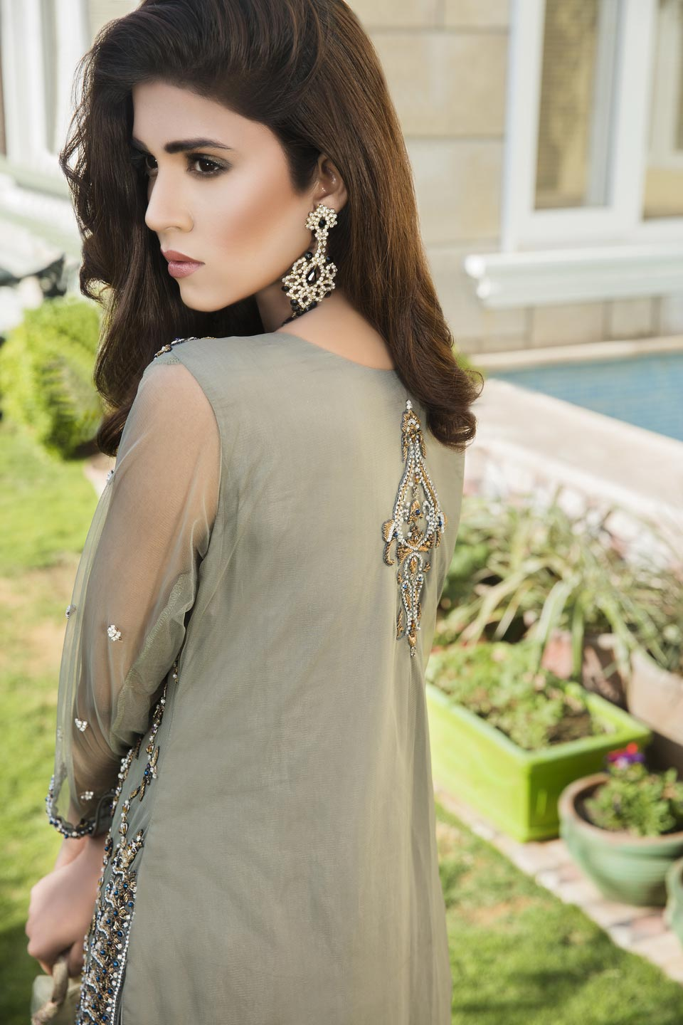 Pista Green And Fone Color Bridal Wear G12410