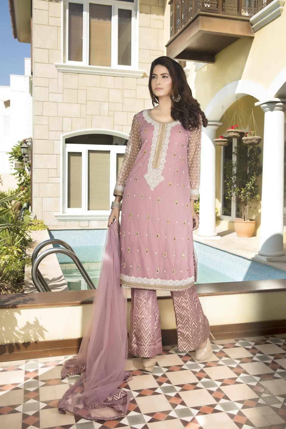 LIGHT PURPLE COLOR BRIDAL WEAR