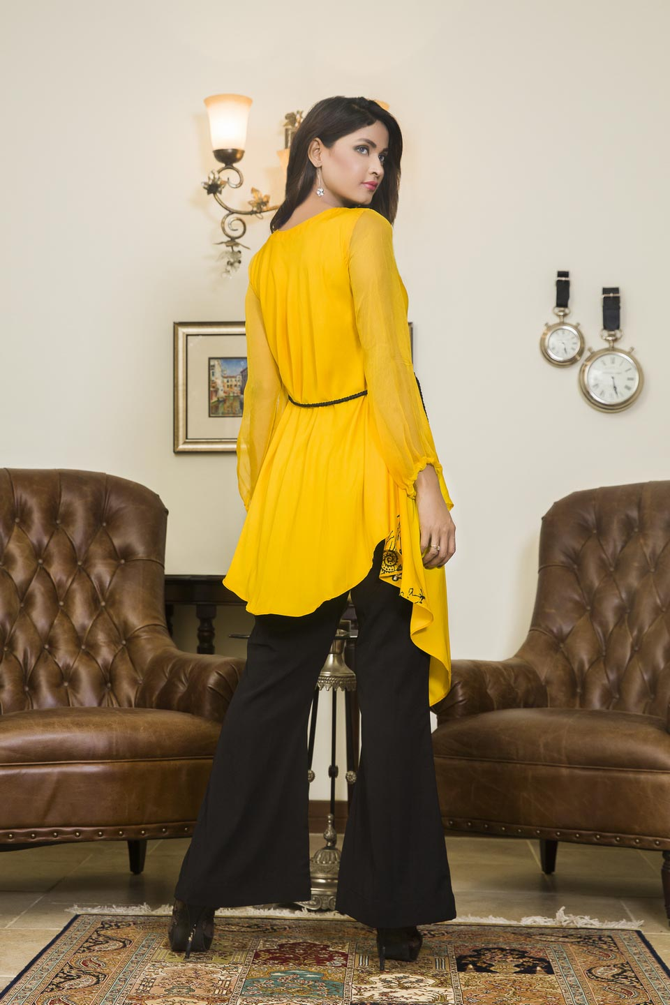 46f04879cc YELLOW AND BLACK COLOR CASUAL WEAR - SAC2001 - Exclusive Online Boutique