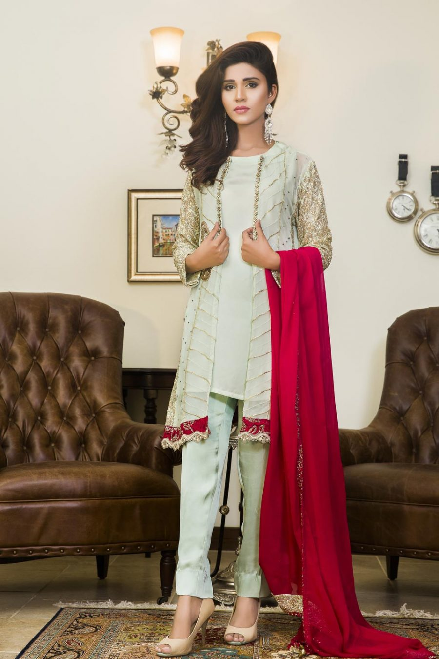 pista green and pink color party wear sas586 exclusive online