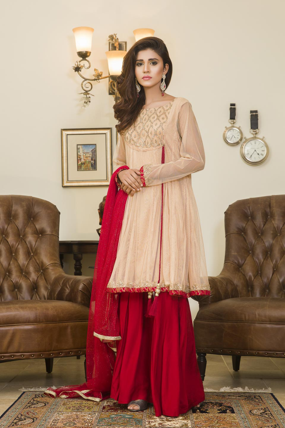 2227db7dcd0 SKIN AND MAROON COLOR PARTY WEAR - YC220 - Exclusive Online Boutique