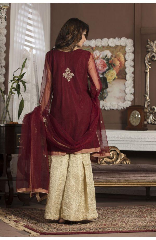 Buy Maroon Bridal Wear – G13107 Online In USA, Uk & Pakistan - 03