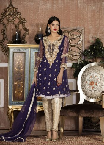 Buy Exclusive Boutique Blue And White Bridal Wear – G14103 Online In USA, Uk & Pakistan - 02