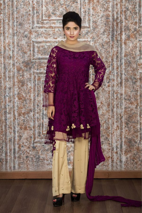 Pakistani Purple Casual Dresses