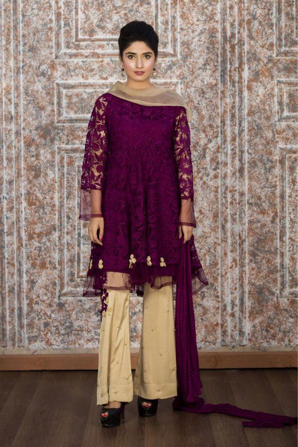 Pakistani Purple Casual Dresses