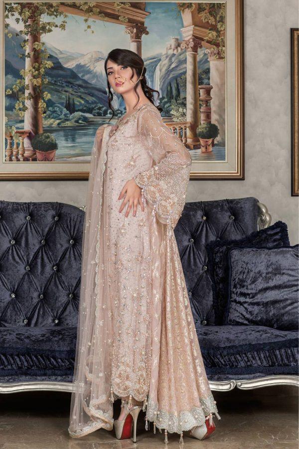 Buy Exclusive Light Peach Dress – Sabd202 Online In USA, Uk & Pakistan - 02