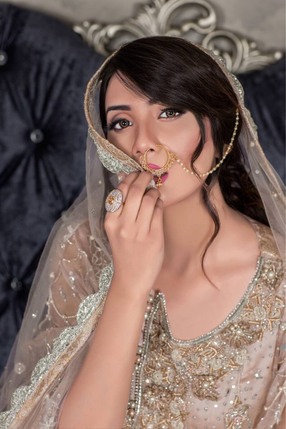 Buy Exclusive Light Peach Dress – Sabd202 Online In USA, Uk & Pakistan - 01