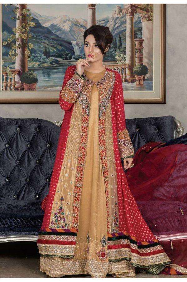Buy Exclusive Red And Golden Dress – Sabd203 Online In USA, Uk & Pakistan