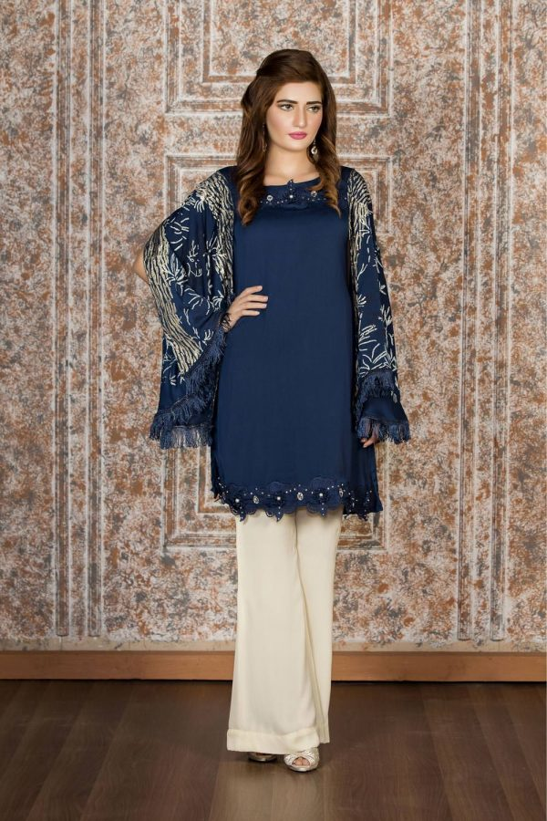 Buy Exclusive Navy Blue And Off-White Casual Wear – Sac2022 Online In USA, Uk & Pakistan - 01