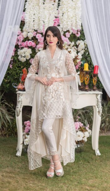 Buy Off White Exclusive Luxury Pret – Sds02 Online In USA, Uk & Pakistan - 02