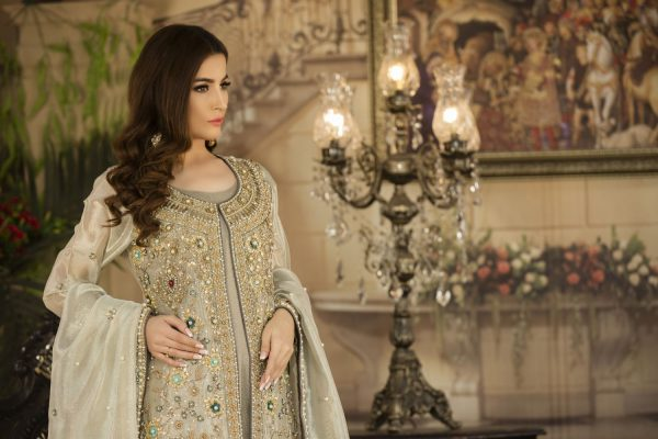 Buy Exclusive Silver And Grey Dress – G14734 Online In USA, Uk & Pakistan - 01