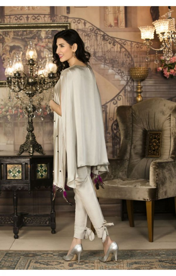 Buy Exclusive Grey Luxury Pret Wear – Sac2248 Online In USA, Uk & Pakistan - 02