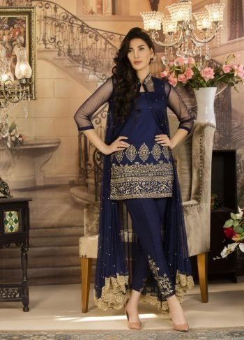 Buy Exclusive Navy Blue Color Luxury Pret – Sds03 Online In USA, Uk & Pakistan - 01