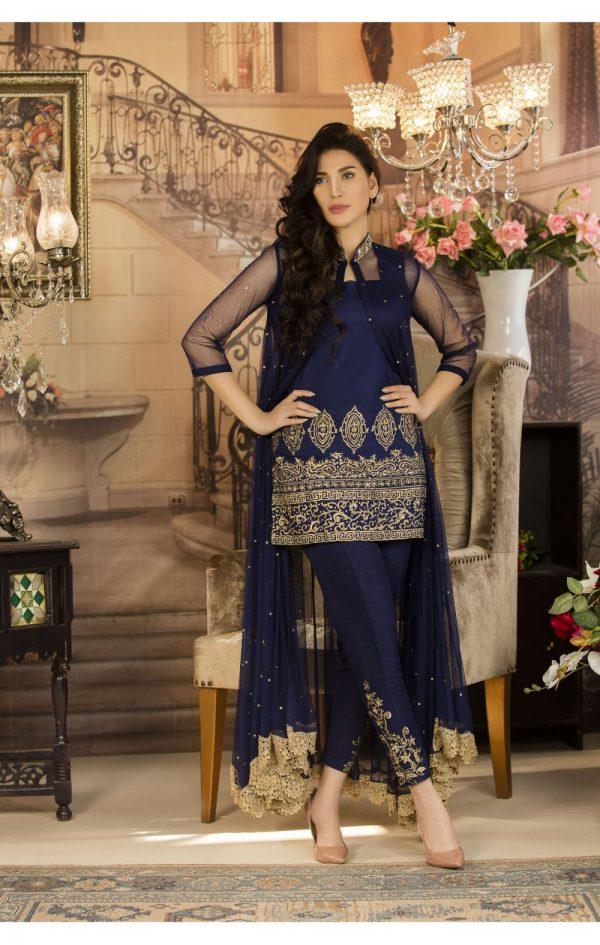Buy Exclusive Navy Blue Color Luxury Pret – Sds03 Online In USA, Uk & Pakistan - 01