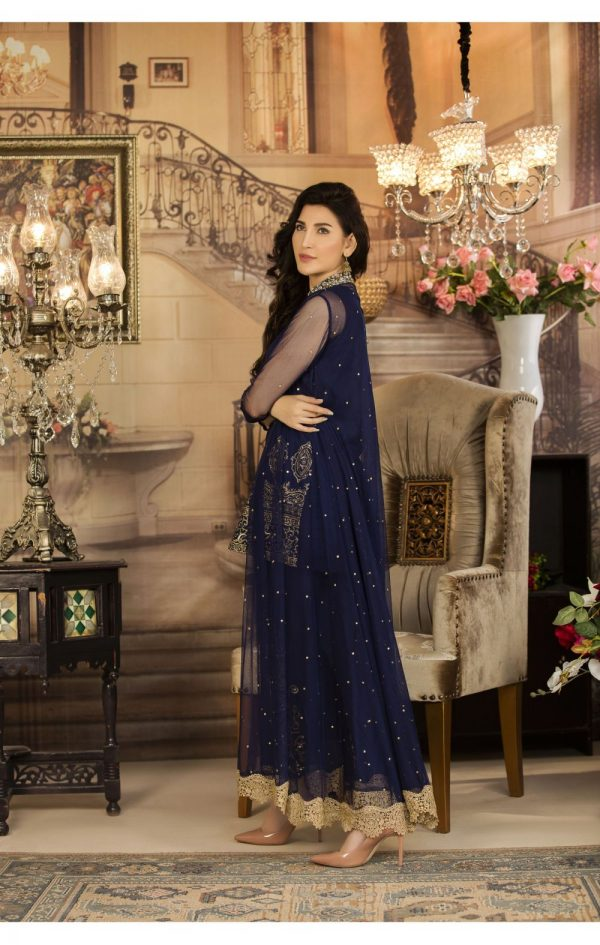 Buy Exclusive Navy Blue Color Luxury Pret – Sds03 Online In USA, Uk & Pakistan - 03