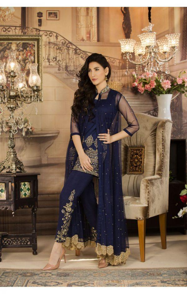 Buy Exclusive Navy Blue Color Luxury Pret – Sds03 Online In USA, Uk & Pakistan - 04