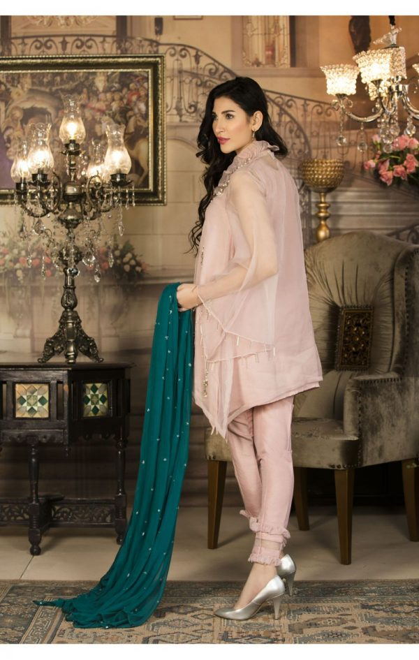 Buy Exclusive Pink And Sea Green Color Luxury Pret – Sds34 Online In USA, Uk & Pakistan