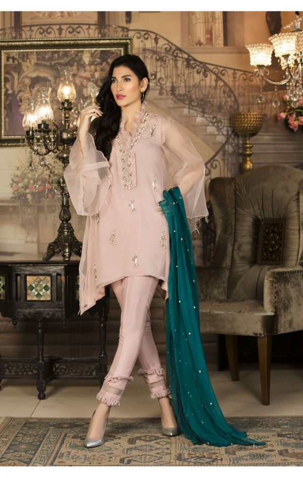 Buy Exclusive Pink And Sea Green Color Luxury Pret – Sds34 Online In USA, Uk & Pakistan - 01