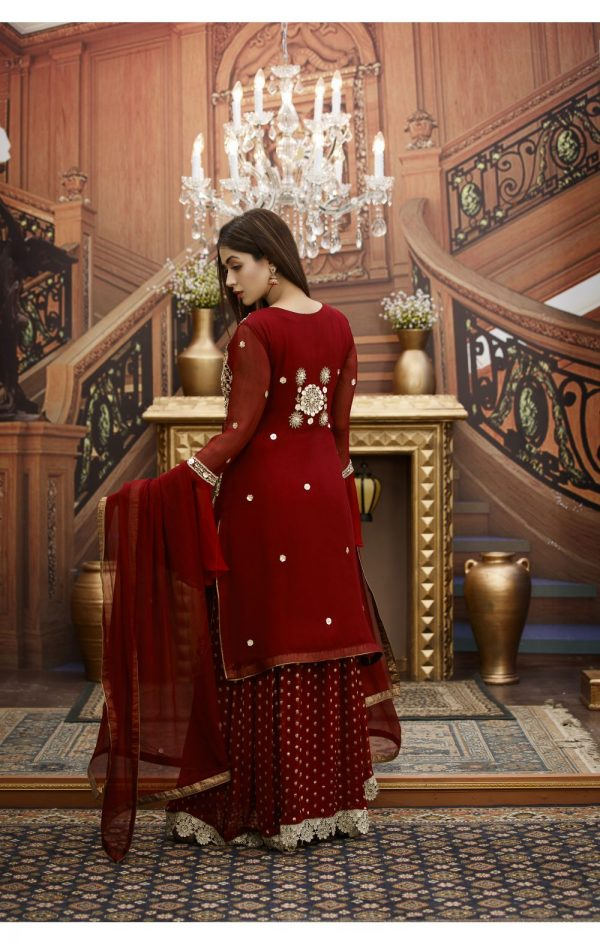 Buy Exclusive Maroon Bridal Wear – G15173 Online In USA, Uk & Pakistan - 02