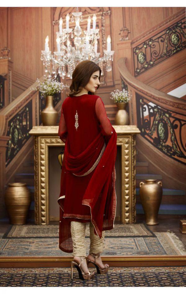 Buy Exclusive Maroon And Golden Bridal Wear – G16229 Online In USA, Uk & Pakistan - 03