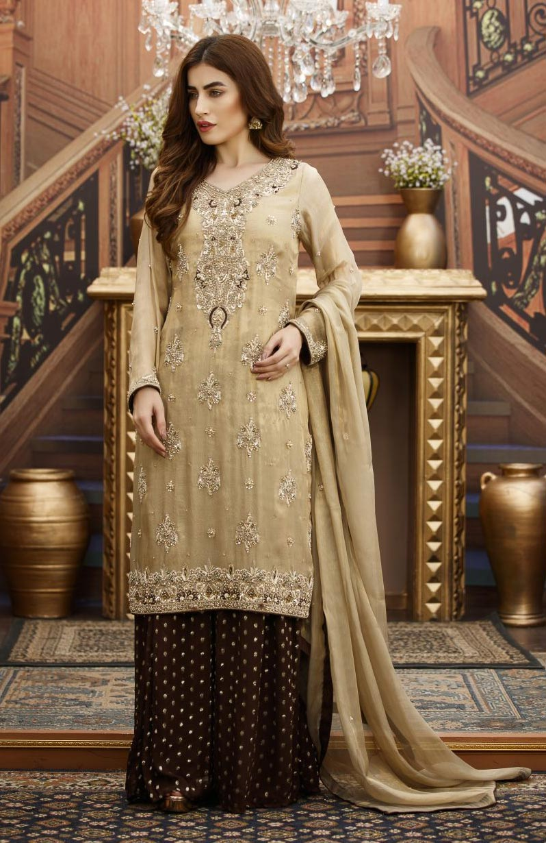 EXCLUSIVE GOLDEN AND BROWN BRIDAL WEAR - G16532 - Exclusive Online ...