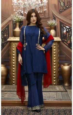 Blue Pakistani Party Dresses