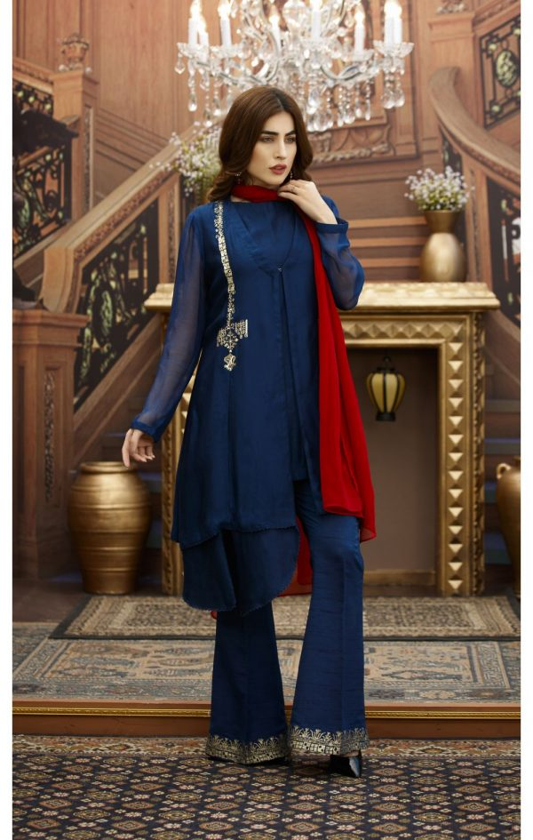 Blue Pakistani Party Dresses