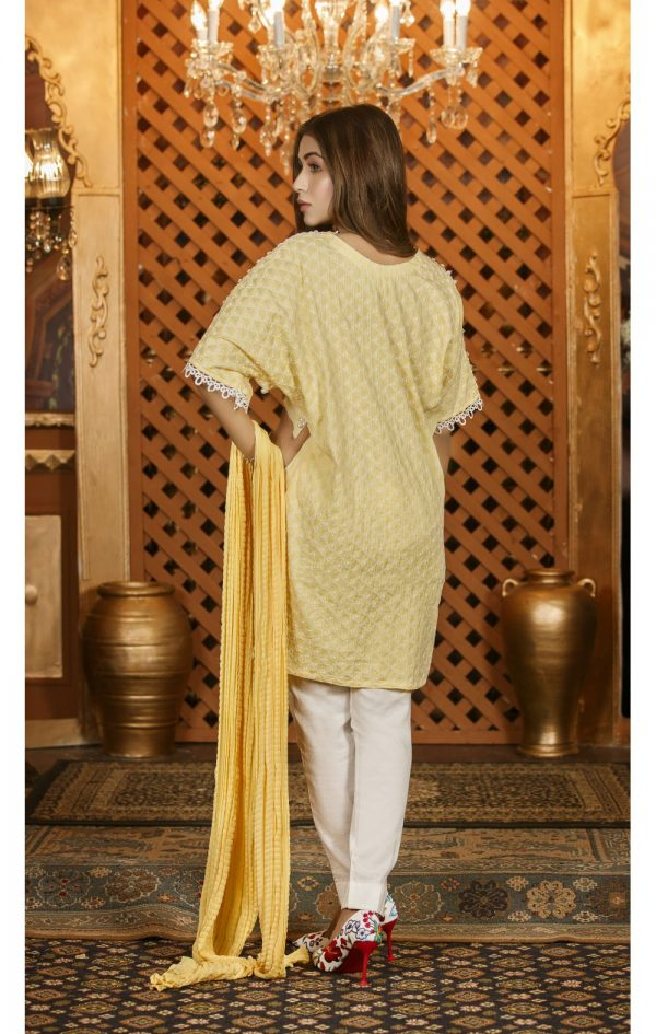 Buy Exclusive Lemon And White Casual Wear – Sac2282 Online In USA, Uk & Pakistan - 01