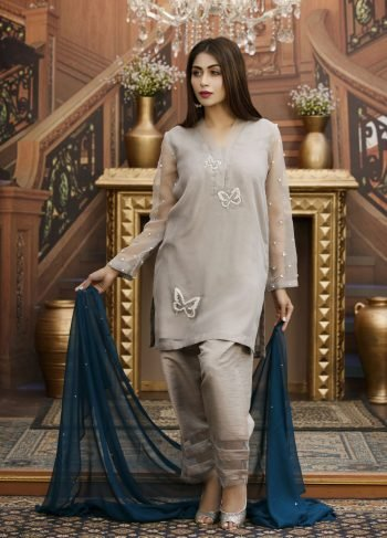Buy Exclusive Grey Partywear – Sds93 Online In USA, Uk & Pakistan