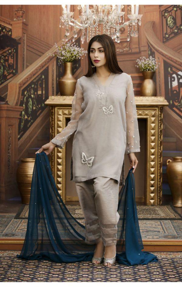 Buy Exclusive Grey Partywear – Sds93 Online In USA, Uk & Pakistan